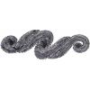 Motif Sequin/beads 29.5x9.5cm Scroll Gunmetal